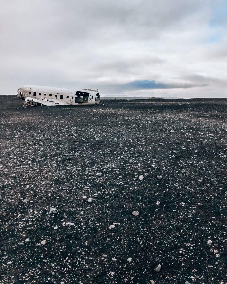 The Sólheimasandur plane crash location when it is empty