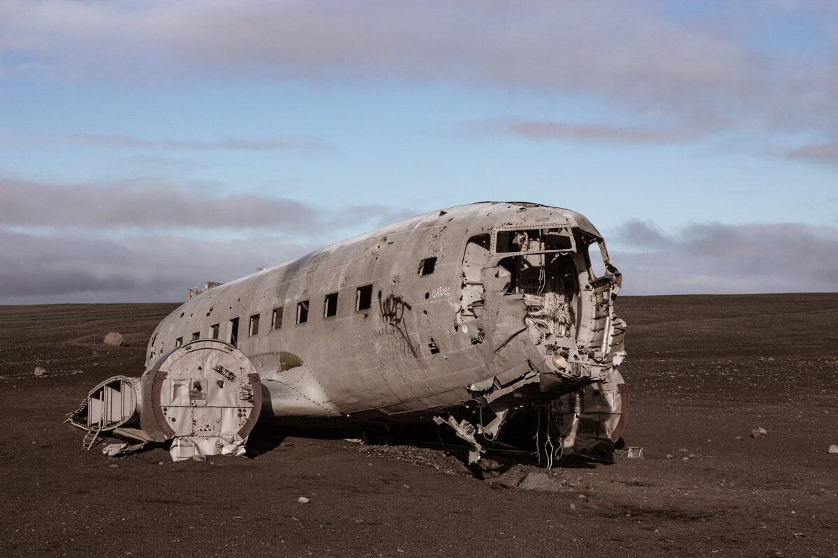 The Sólheimasandur plane wreck in Iceland is a popular hike.