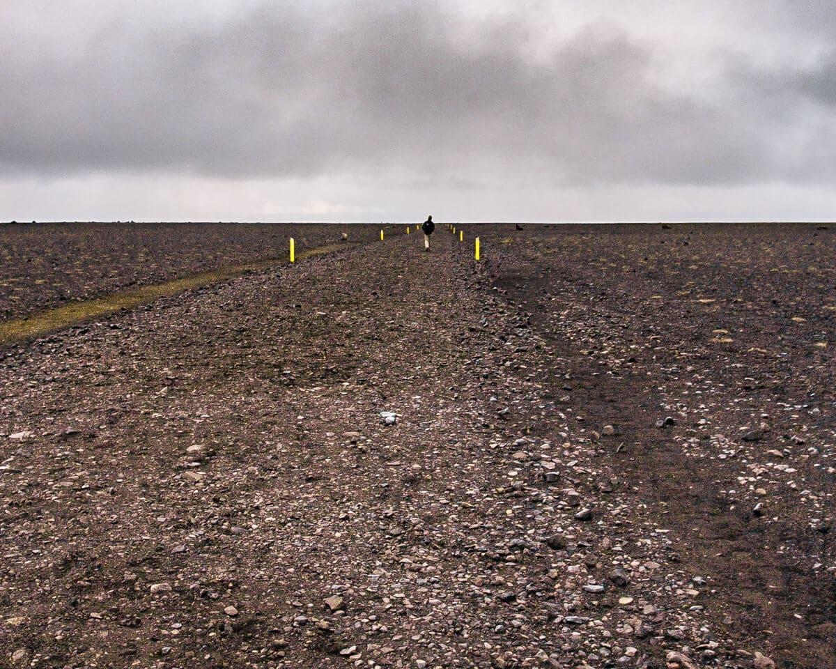 Follow this path to the Sólheimasandur plane wreck