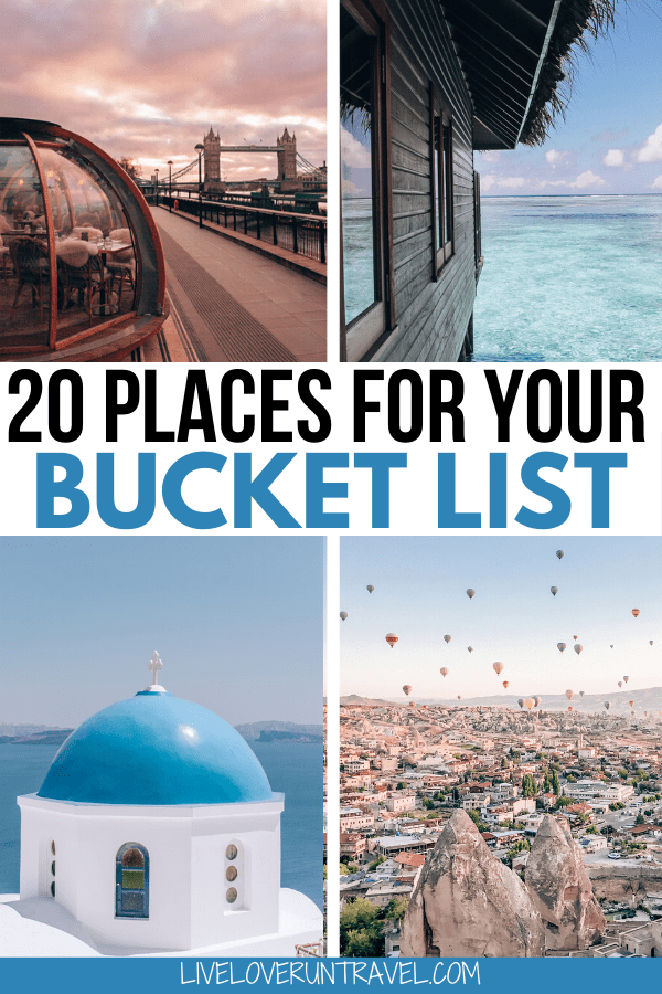Click here for a breakdown of the top 20 travel destinations for 2020. Add these to your travel bucket list now. #beautifulplaces #bucketlist #travel | once in a lifetime destinations | bucket list destinations | bucket list travel | best places to visit | most beautiful destinations in the world | off the beaten path destinations | bucket list before I die | travel bucket list United States | Africa travel bucket list | bucket list Europe cities | bucket list Europe travel | best places to go
