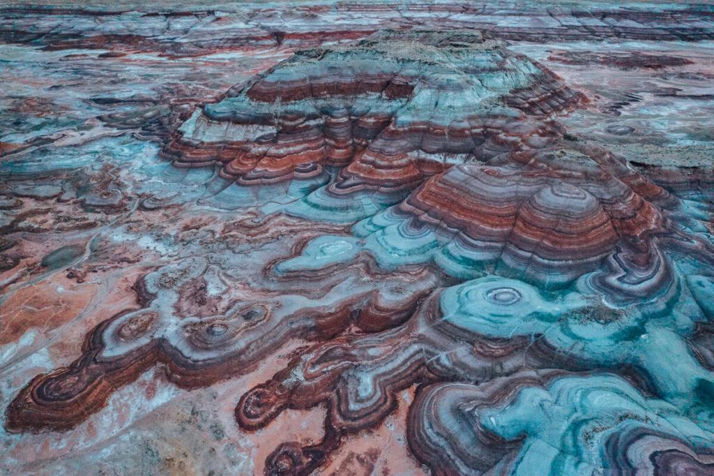 bentonite hills utah is one of the places that looks like mars in utah