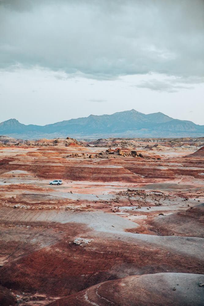 Mars desert in Utah near the Mars Desert Research Station