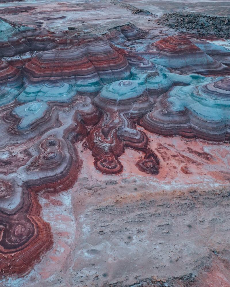 Bentonite Hills near the Mars Desert Research Station