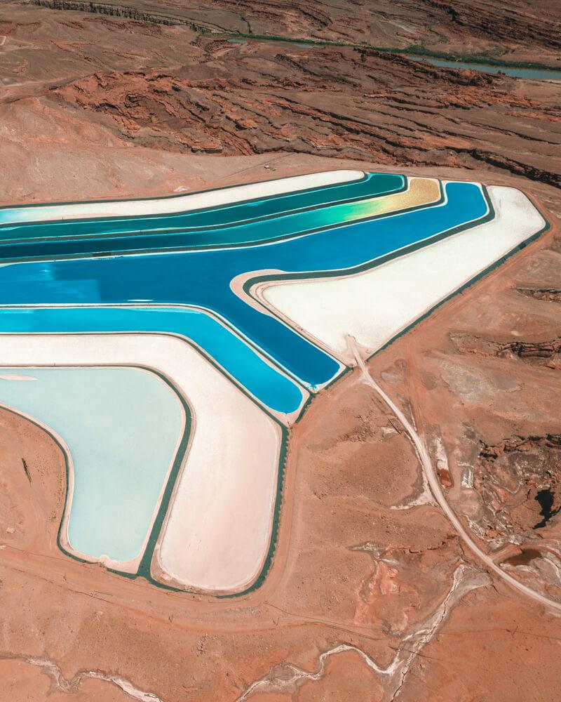 moab potash ponds in utah