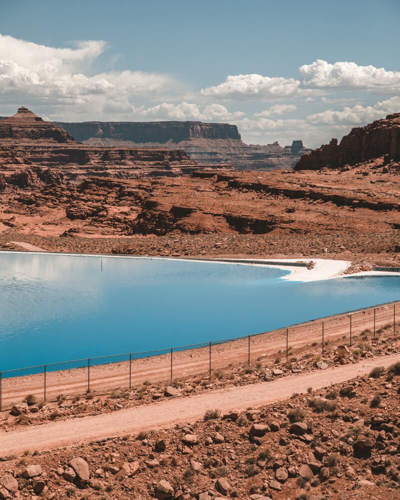 dark blue potash ponds in moab utah