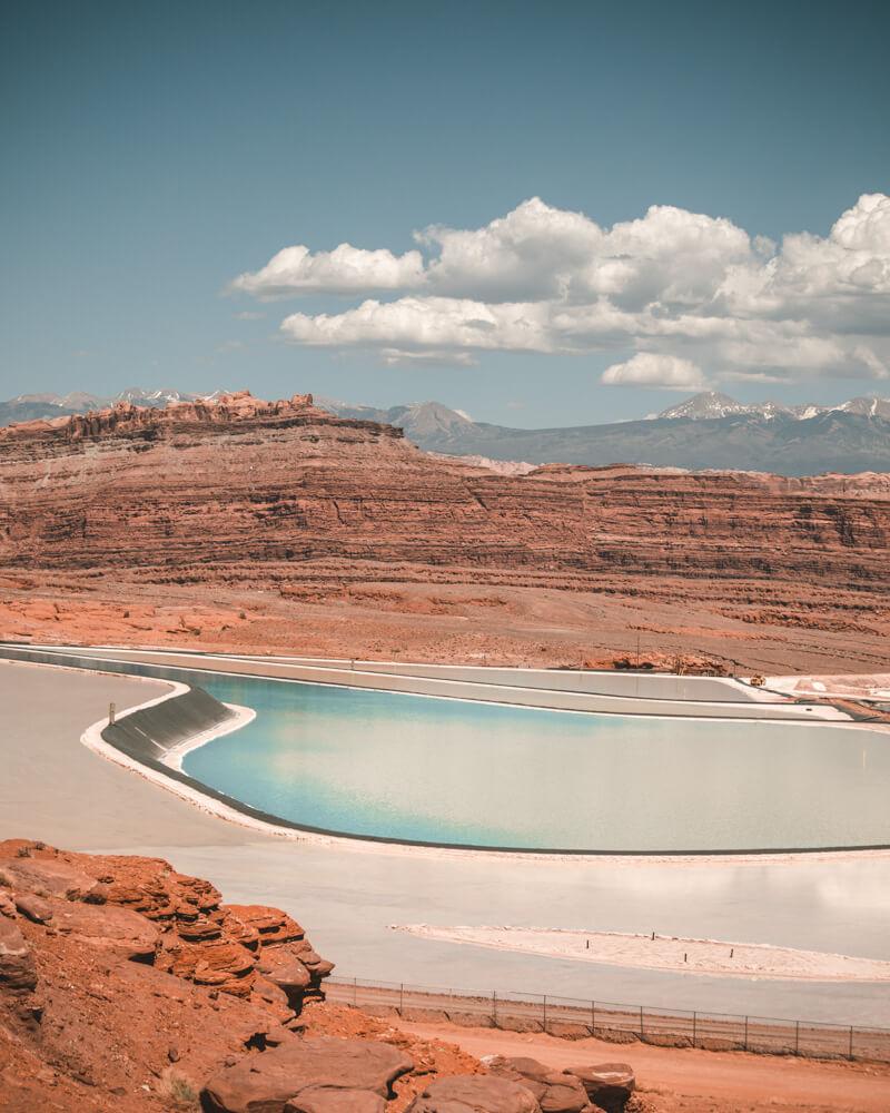 light blue moab potash ponds