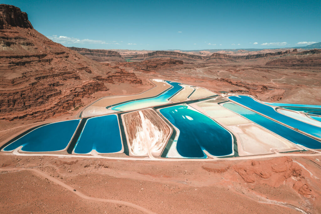 potash evaporation ponds utah