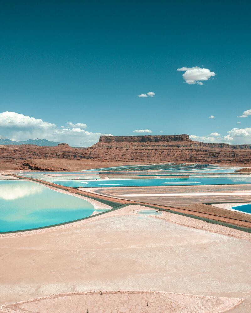 potash ponds blue pools in utah