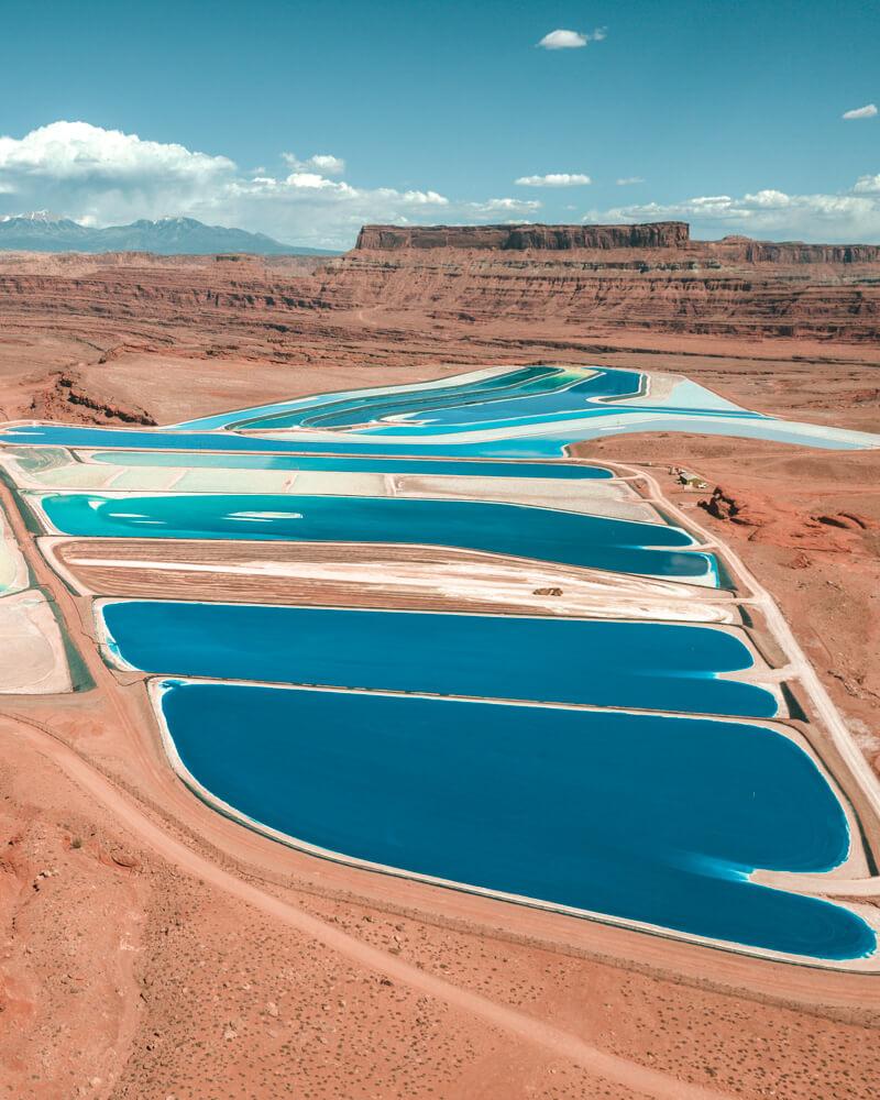 potash evaporation ponds - moab utah